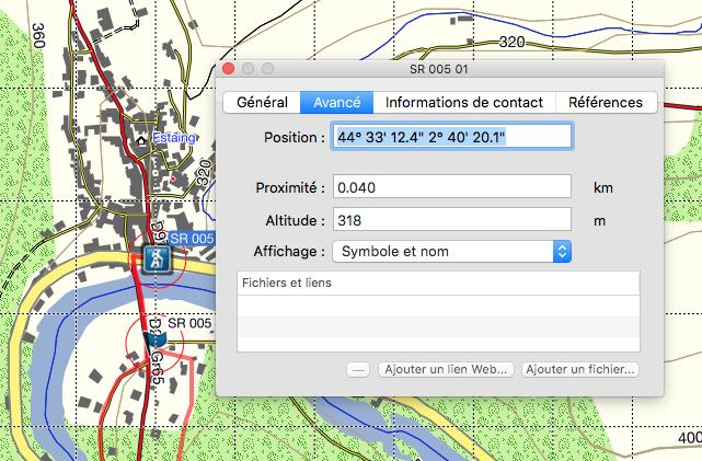 """Affichage désastreux des fenêtres """"détails des Waypoints"""" dans base camp pour Mac Captur23"""