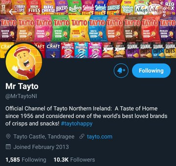 Mr Tayto Ireland dons face mask to encourage Covid safety – but Mr Tayto NI remains mask-free Ehddzp10