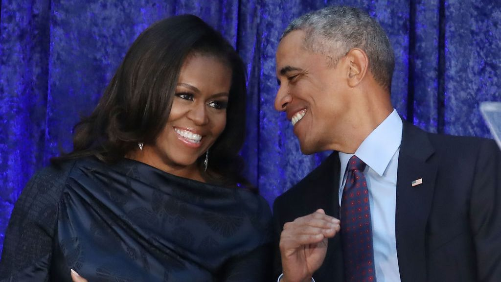 Barack and Michelle Obama producing new comedy series based on Trump administration Gettyi50
