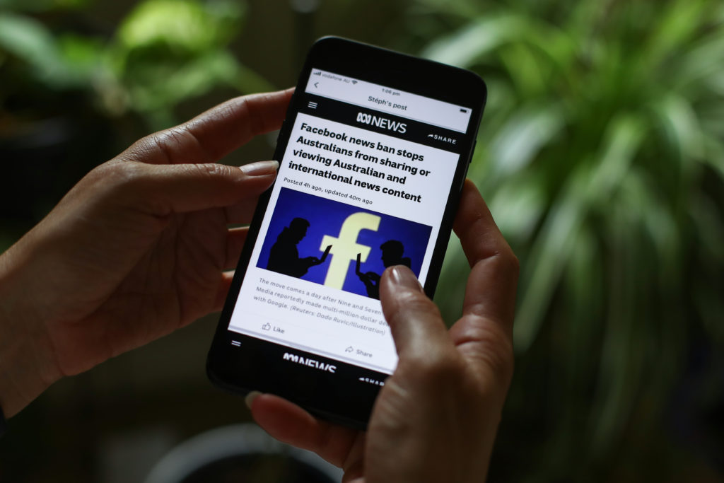 Facebook BANS all Australians from reading or sharing news in latest 'big tech' censorship controversy Gettyi62