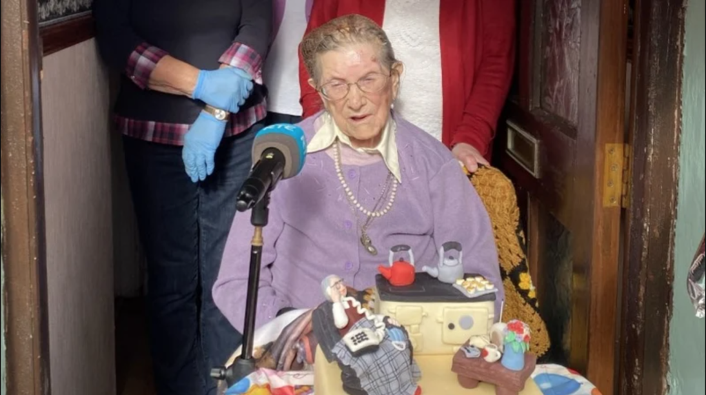 107-year-old Meath woman's secret to a long life is prayer and a full Irish breakfast Screen18