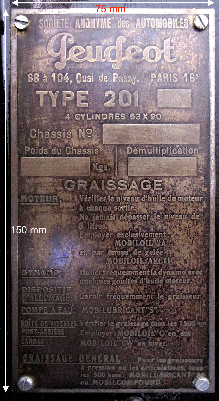 Re-fabrication de plaques constructeur pour 01 : Première étape - plaques 201 en LAITON gravées à l'acide 201_10
