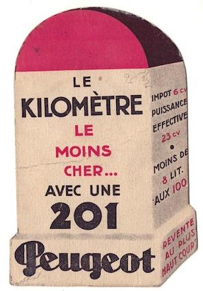 Bornes publicitaires PEUGEOT : pyrogènes et marque-pages Borne_10
