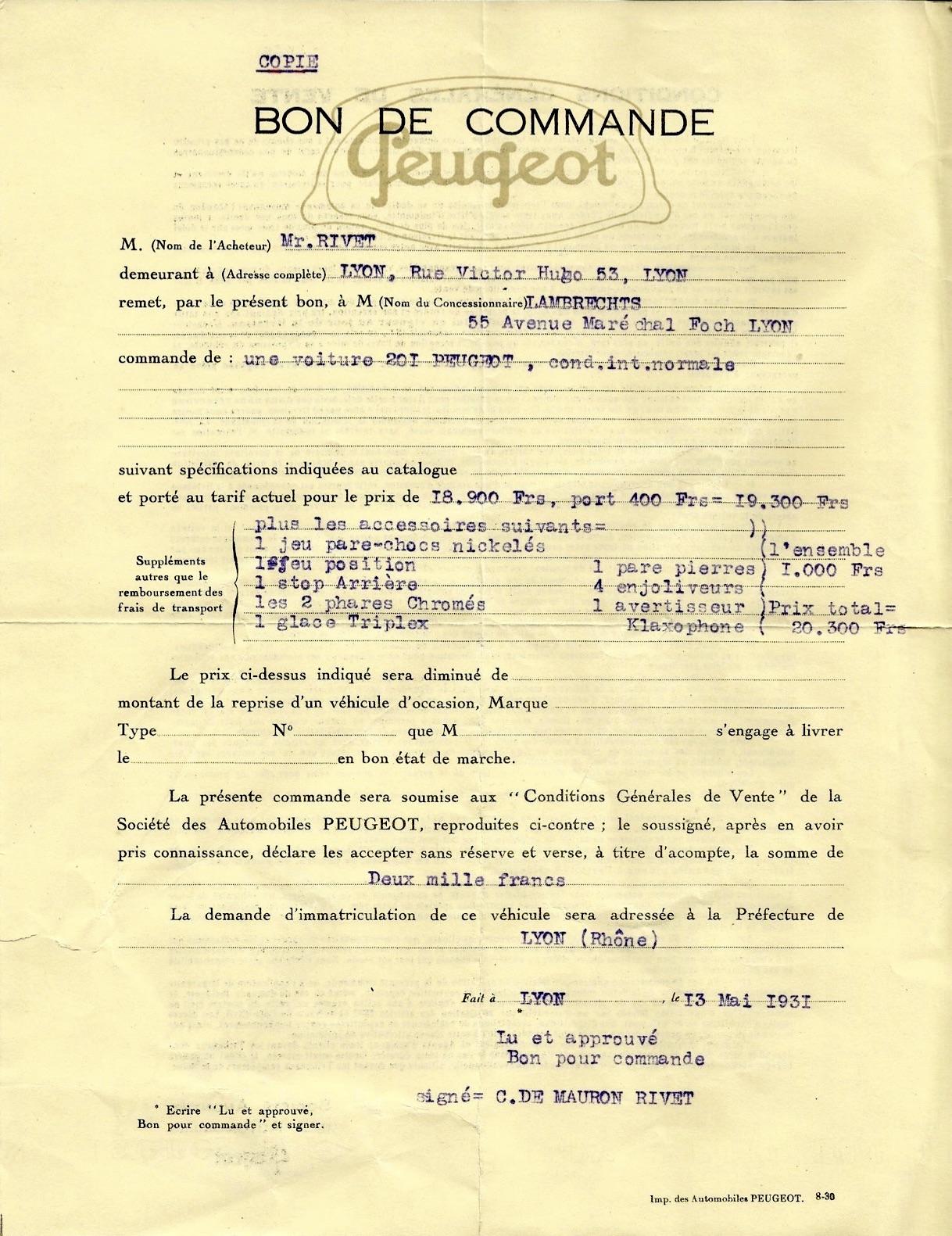 DES ACCESSOIRES D'ÉPOQUE POUR 201 1931 Comman10