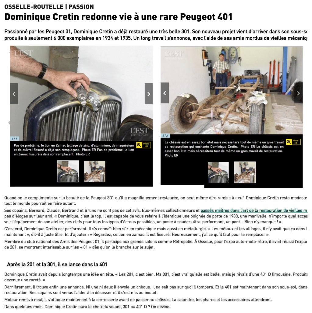 """votre serviteur valorise"""" les amis des Peugeot 01"""" sur L EST REPUBLICAIN  Editio10"""