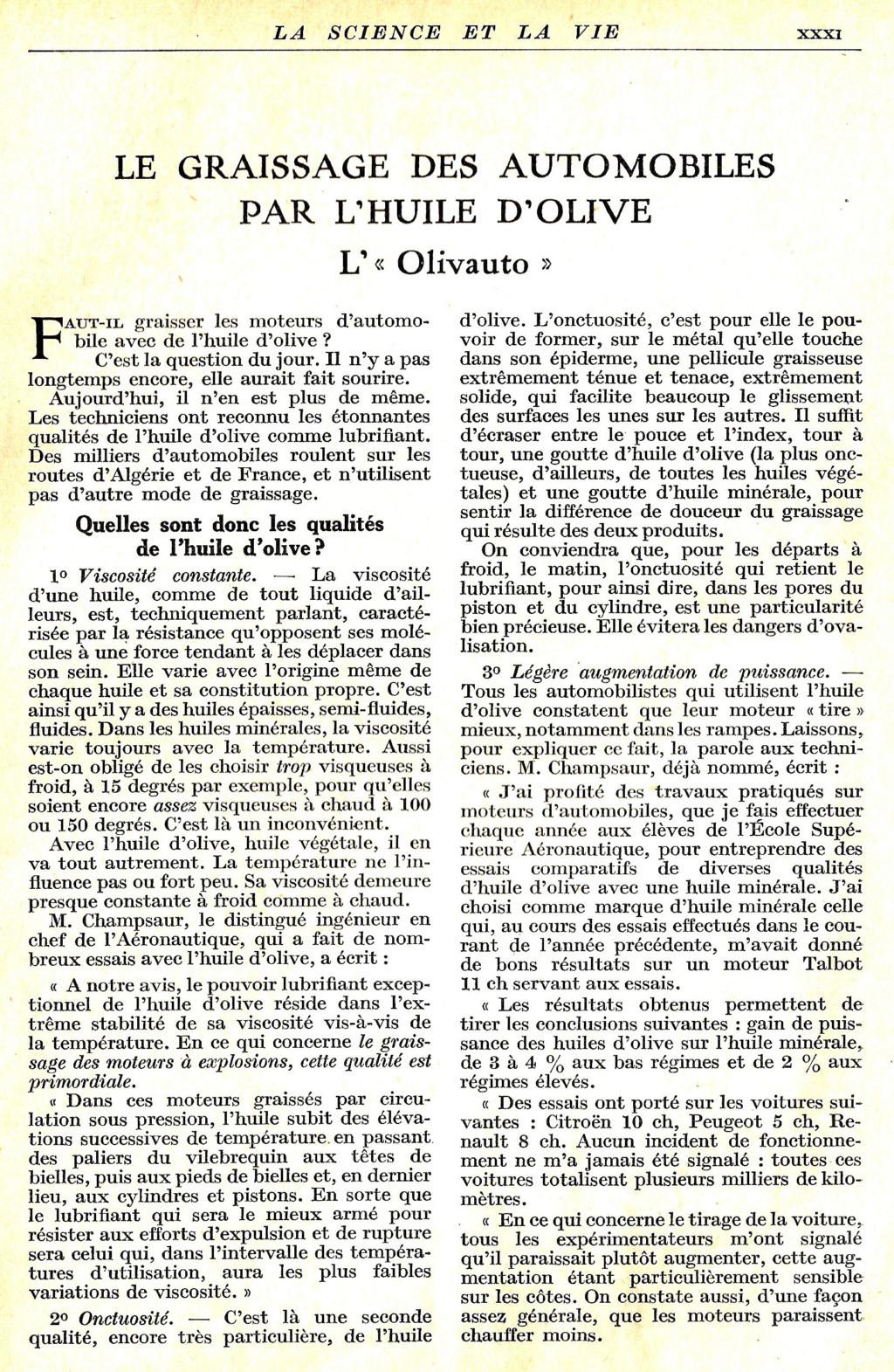 Généralités sur l'Huile Olivau12