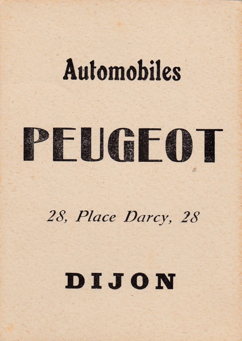 Cartes Postales Anciennes de garages PEUGEOT (Garages, Agences et Concessions) - Page 2 Peugeo19