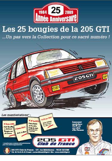 [72] les 25 ans de la 205 GTI - le mans- 21-22 février 2009 Affich10