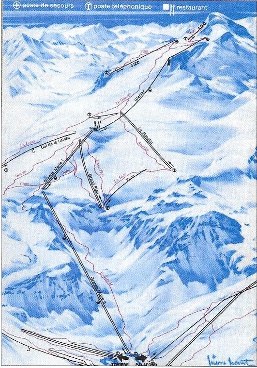 Histoire du domaine skiable de Tignes 1975gr10