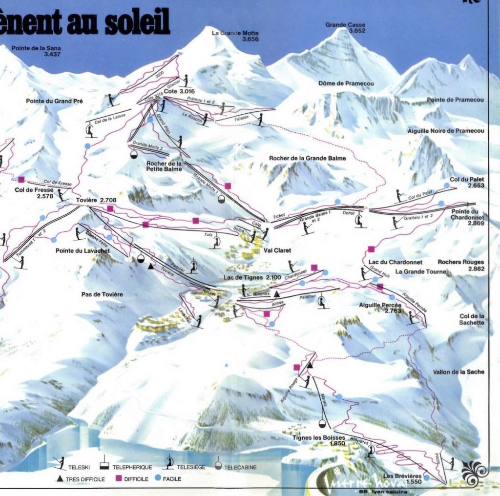 Histoire du domaine skiable de Tignes 1975pp11