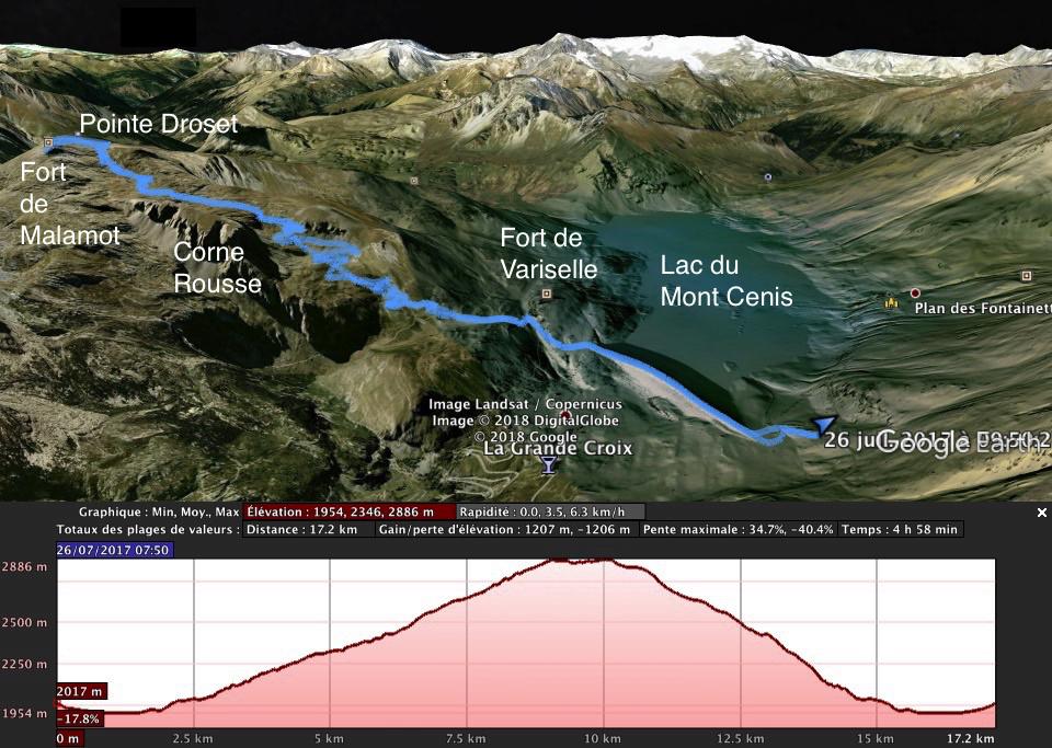 Barrage du mont Cenis - Fort de Malamot - Pointe Droset Droset10