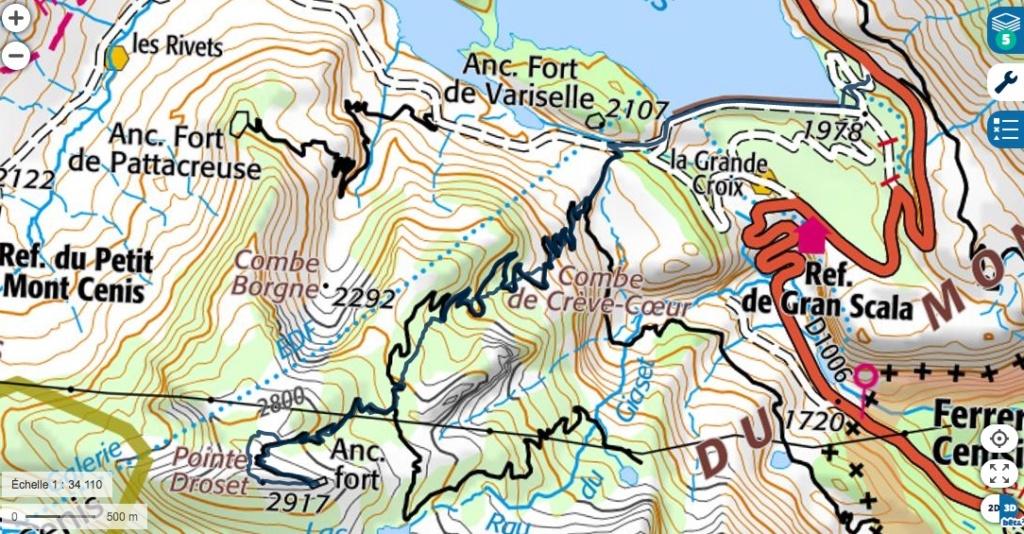 Barrage du mont Cenis - Fort de Malamot - Pointe Droset Droset11