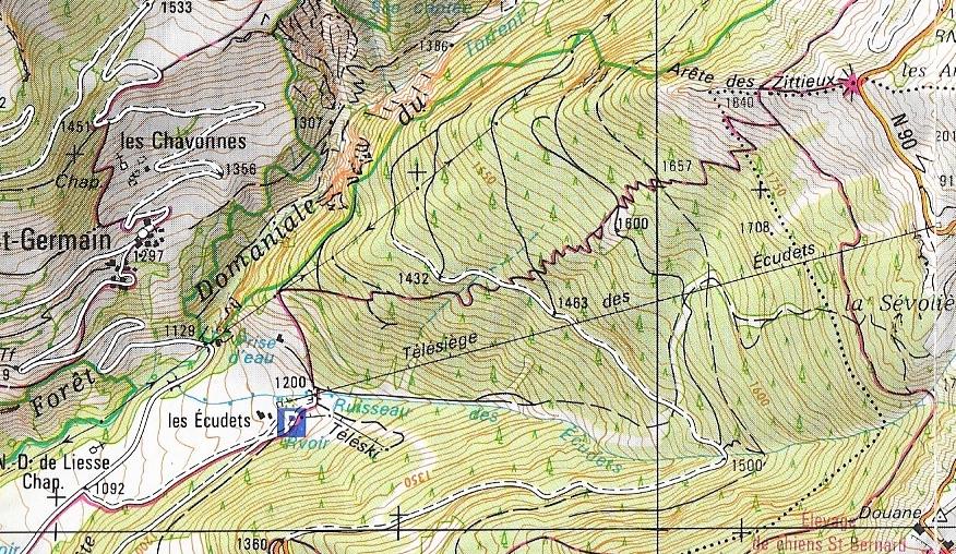 Historique du domaine skiable de La Rosière Ecudet10