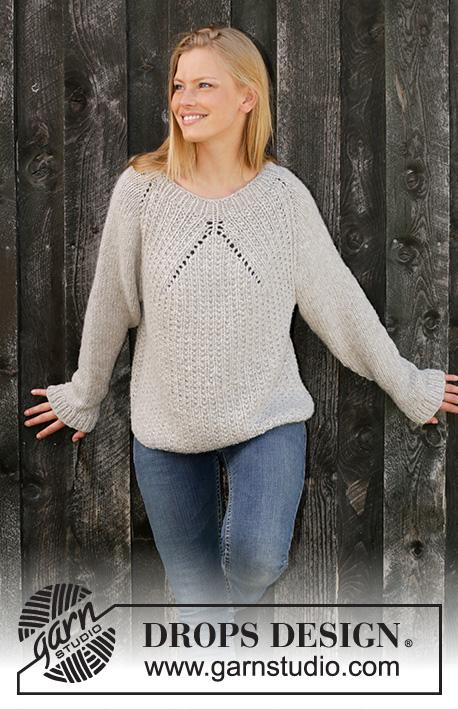 (tricot) pull Drops tricoté en une pièce de haut en bas 28-210