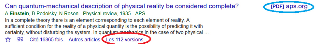 Publications scientifiques  Google10
