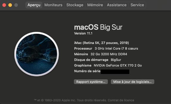 Mise a jour macOS Big Sur 11 (20C69) Captur22