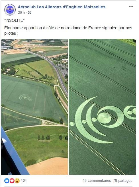 Crop circle à Baillet-en-France (95) Baille10
