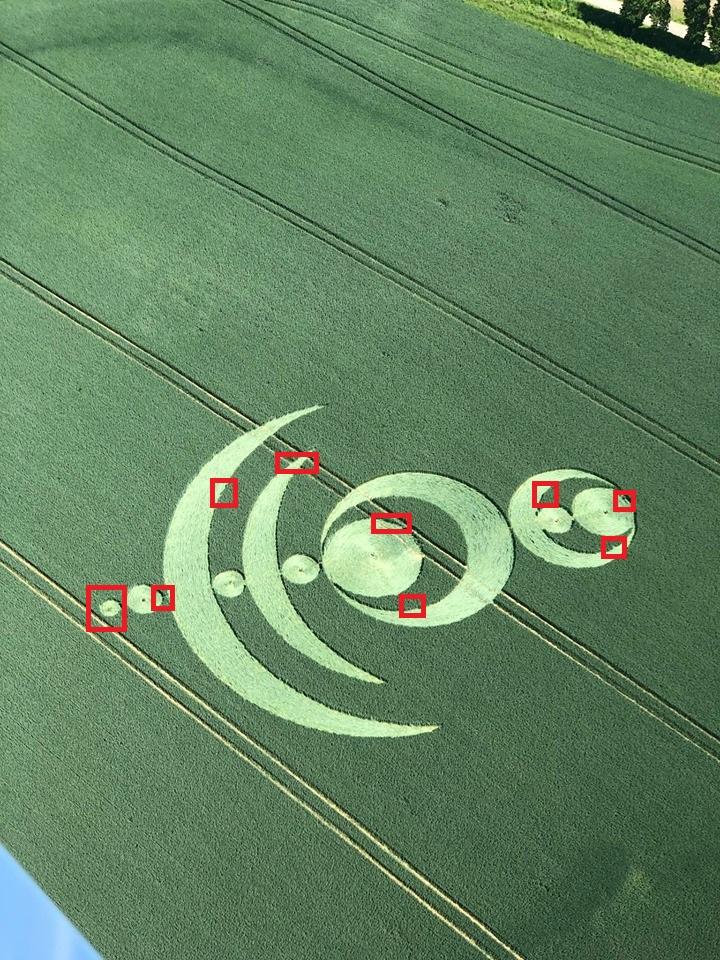 Crop circle à Baillet-en-France (95) Baille13