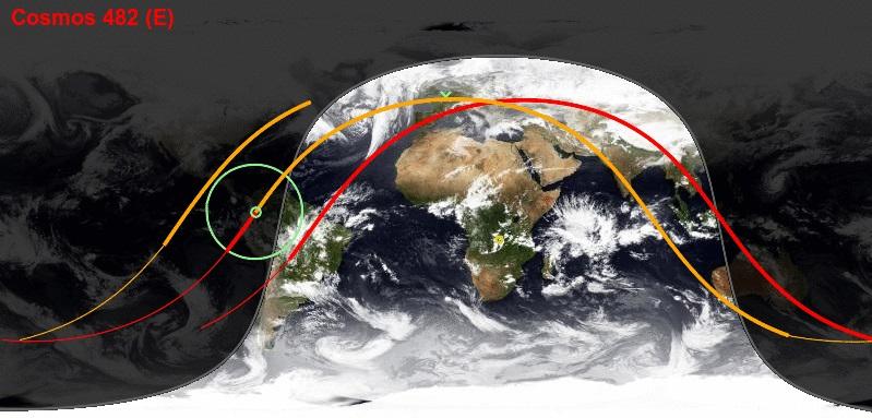 Rentrée atmosphérique de Kosmos 482 K482_110