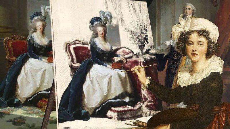 """Les petits secrets des grands tableaux """"Marie-Antoinette de Lorraine-Habsbourg, reine de France et ses enfants"""", 1787 82187910"""