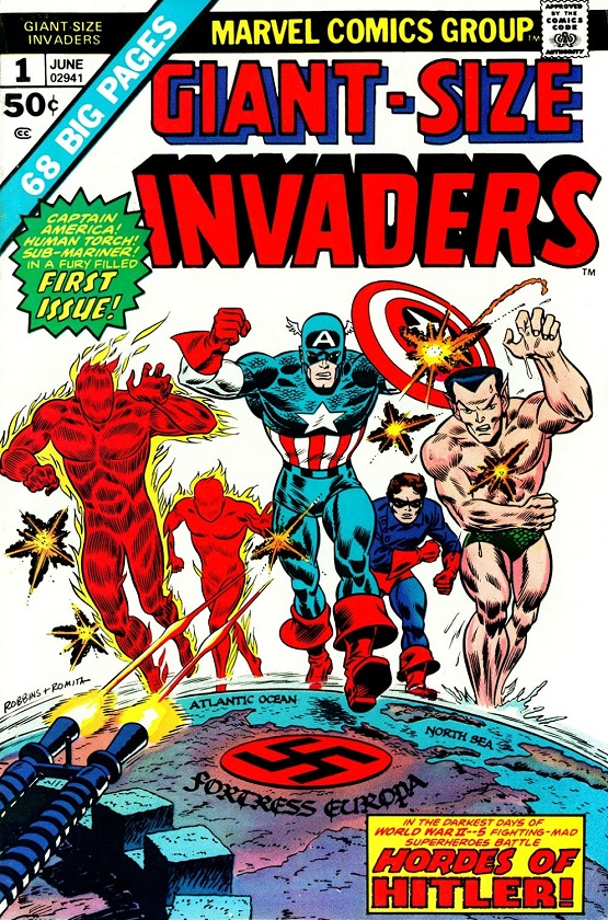 Captain America & The Invaders: Bahamas Triangle written by Roy Thomas Giant-16