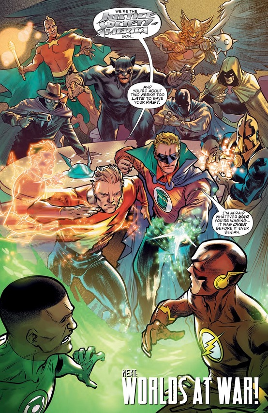 """Justice Doom War"" arc in Justice League Jusitc11"