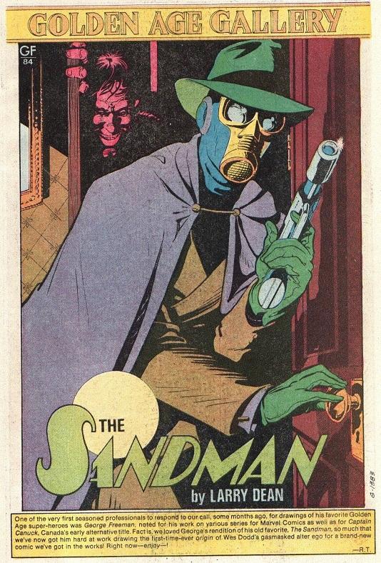 Happy 75th Anniversary Sandman (Wesley Dodds) Sandma13