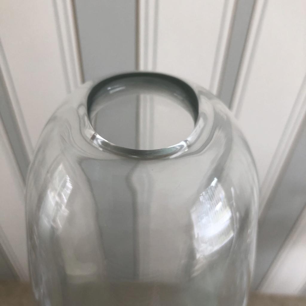 Large Clear Handblown Glass Vase Scandinavian? 94967510