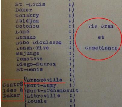 Saint Raphaël à Pointe Noire (Moyen Congo) le 22/04/1941 : problème de tarification  Ach4110