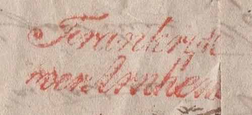 Tarif postal pour l'etranger (1833) Frank10