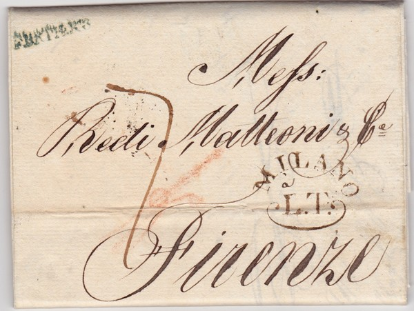 lettre de 1814 - Verceil italie Milt10
