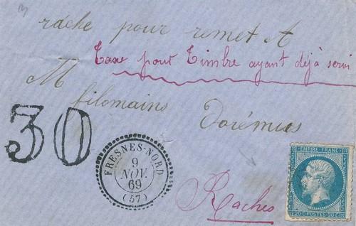Marques manuscrites des postiers : Règles ? Sans_331