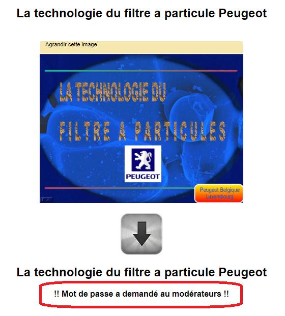 La technologie du filtre a particule Peugeot Captur70