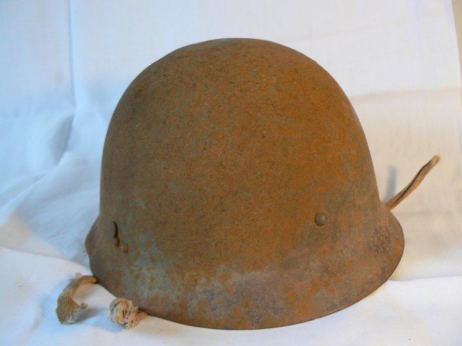 Prototype de casque japonais ww2 pour servant de mitrailleuse 1a10
