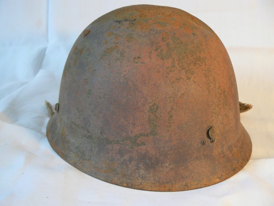 Prototype de casque japonais ww2 pour servant de mitrailleuse 2b10