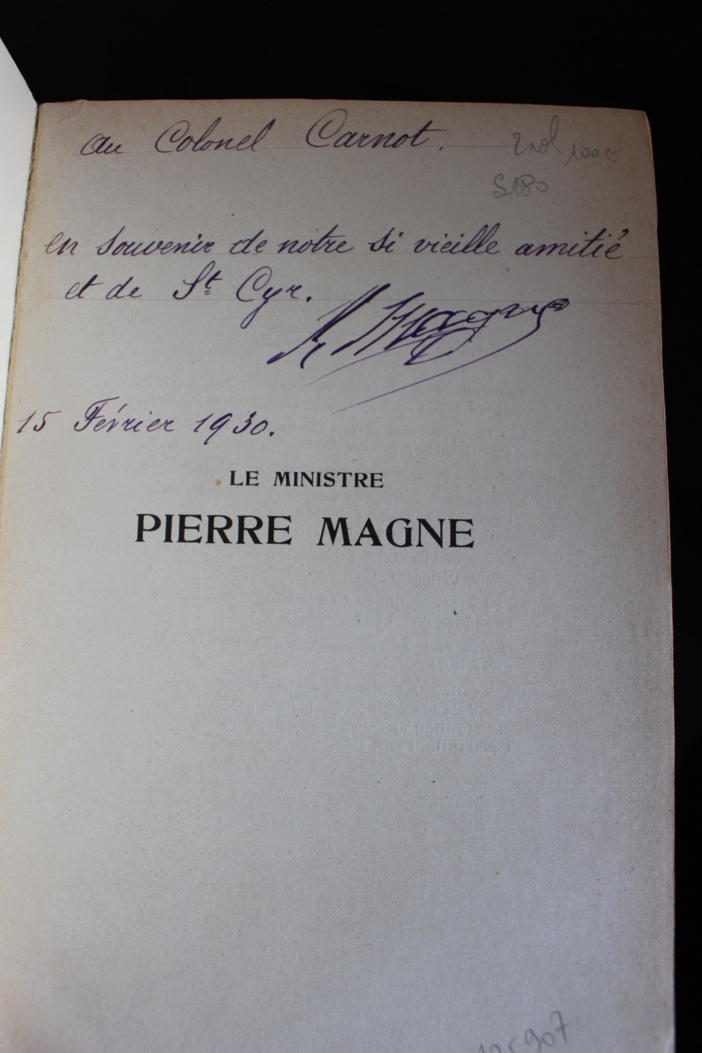 Dédicace de Napoléon MAGNE, 1930 Img_2716