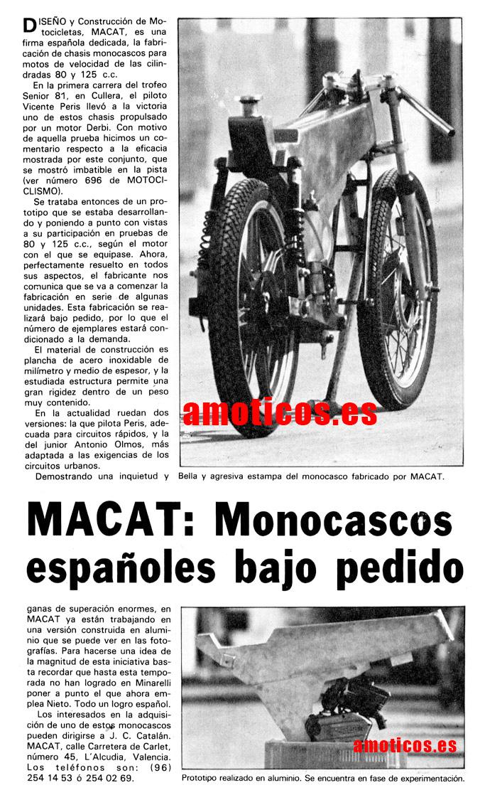 Monocasco artesanal Macat 81-70710