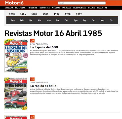 Hemeroteca revista Motor16 Motor110