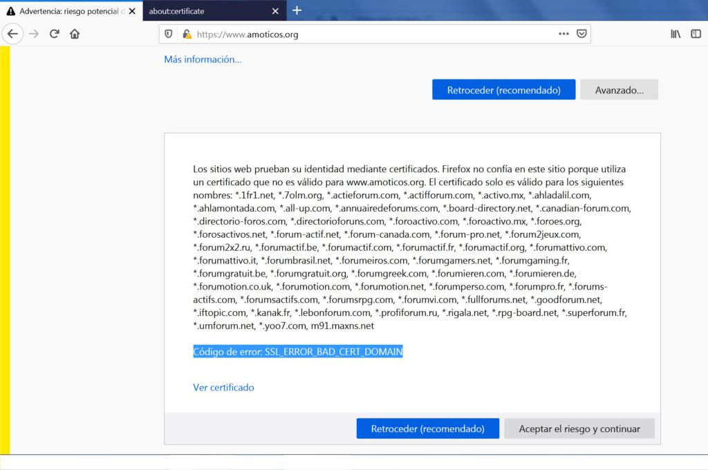 Soy página peligrosa tras instalar el protocolo https Mz110