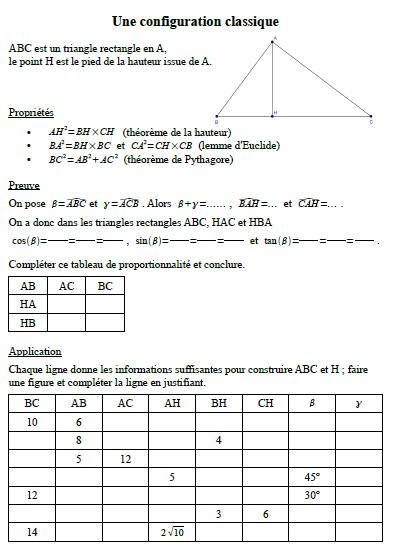 Homothétie, triangles semblables au lycée ? Euclid10