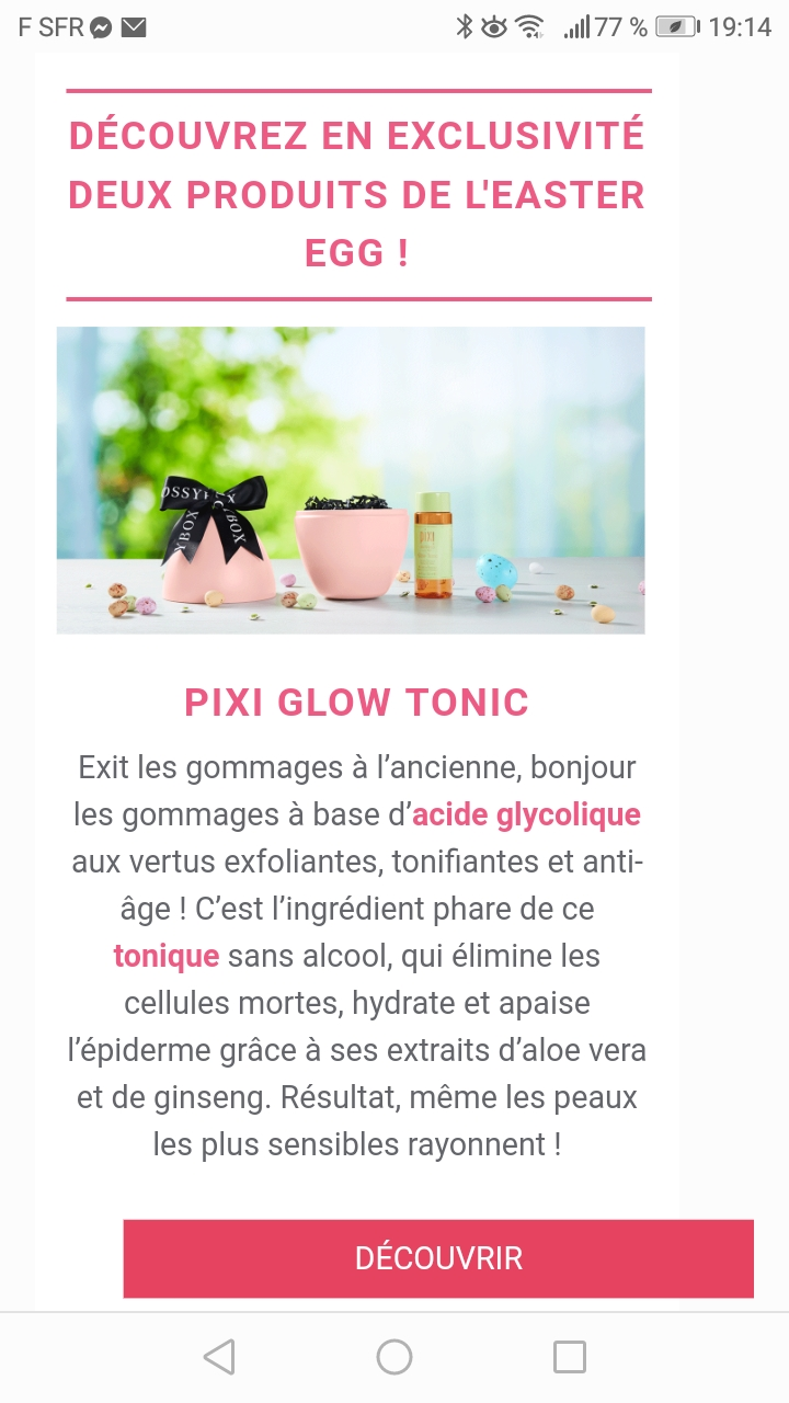 Glossybox édition limitée Easter Egg 2019 Screen23