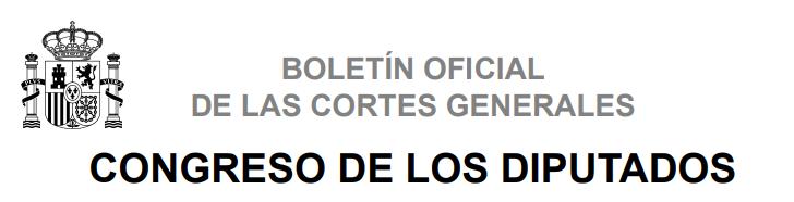 [BOCG] Boletín Oficial del Congreso de los Diputados Descar18
