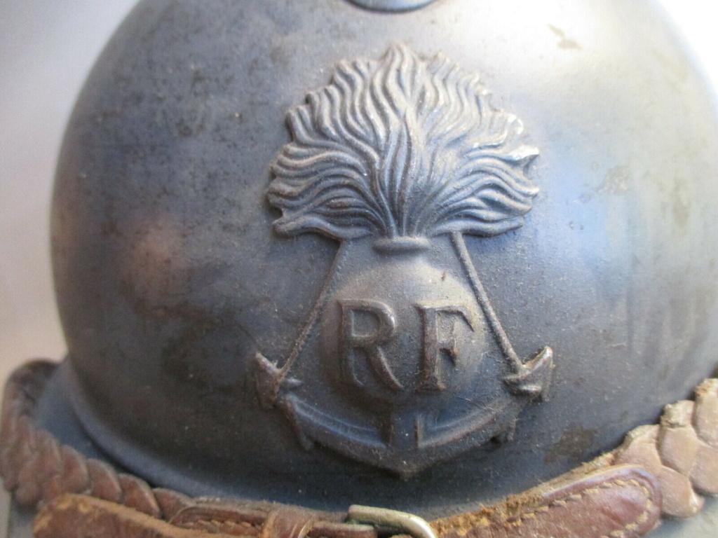 Authenticité insigne modèle 1915 Colo - casque modèle 1926 Rondac10