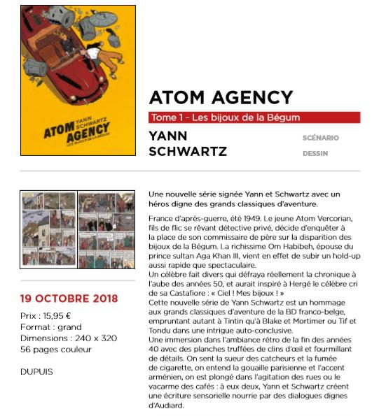 Atom Agency - Atom Agency par Yann et Schwartz Atom2010
