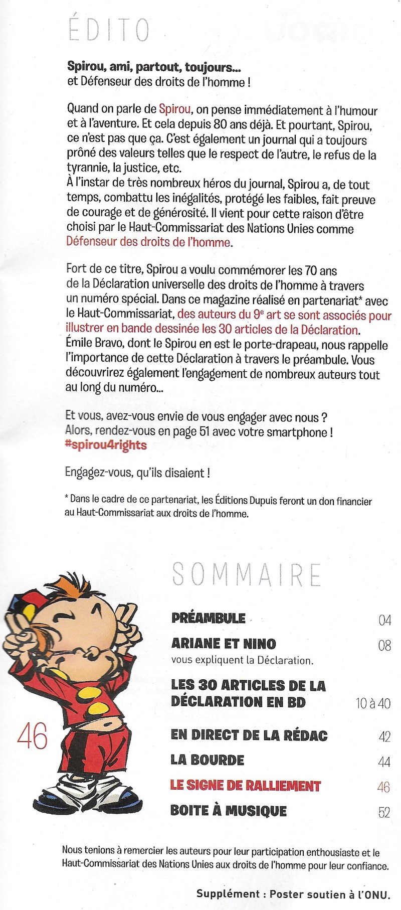 Spirou ... le journal - Page 25 Sommai25