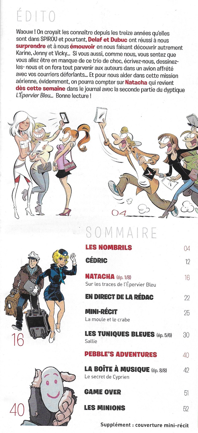 Spirou ... le journal - Page 25 Sommai30