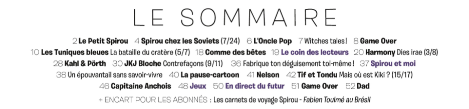 Spirou ... le journal - Page 31 Sommai75