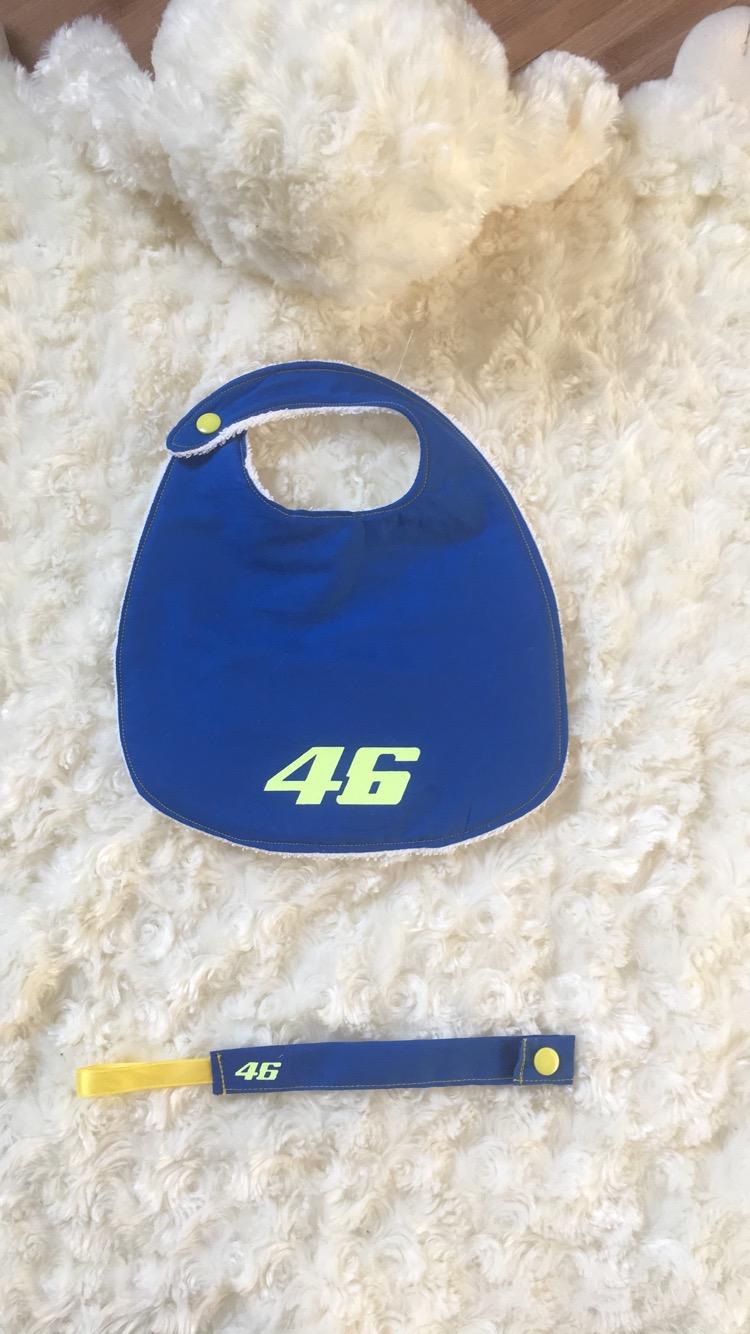 Artisana Bavoir+attache tétine pour bébé motard Ff5efe10