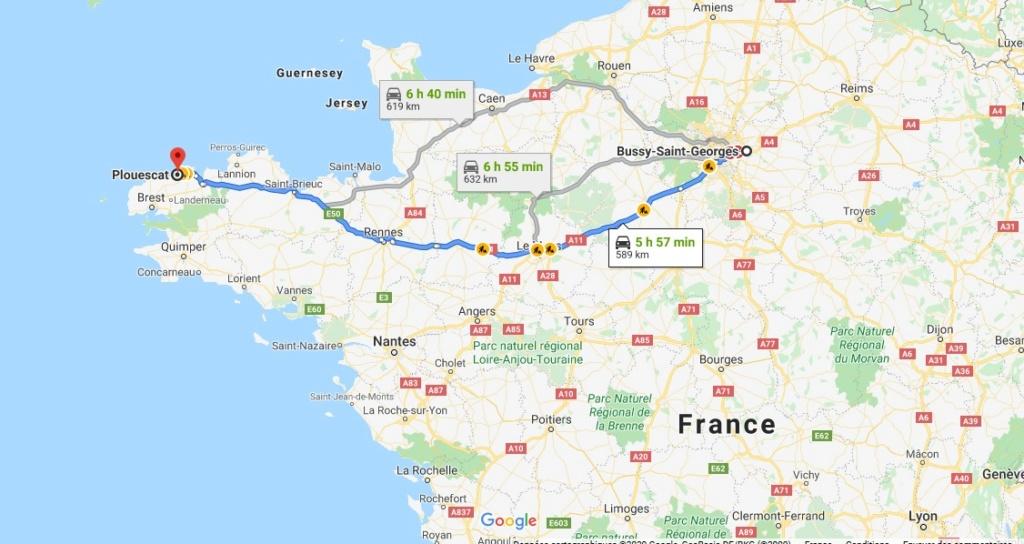 Recherche Région Parisienne (77) -> Bretagne Covoit11