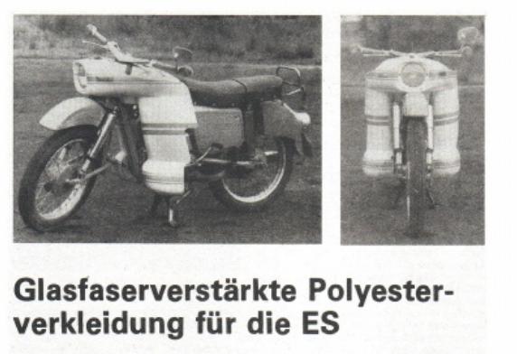 Carénage en polyester pour ES (magazine practic 2/74) Carena10